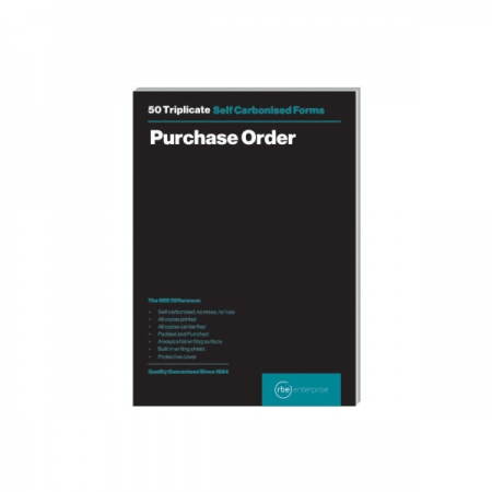 A5 Purchase Order Triplicate Pads