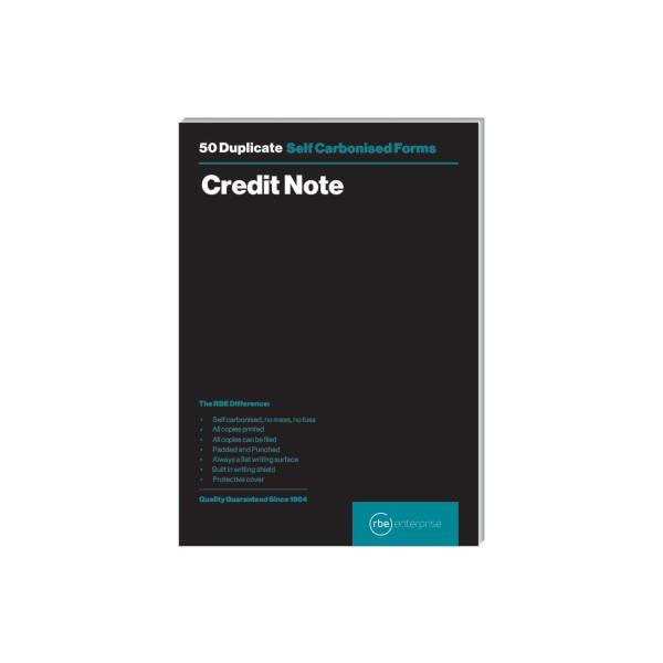RBE A5 Credit Note Duplicate Pad