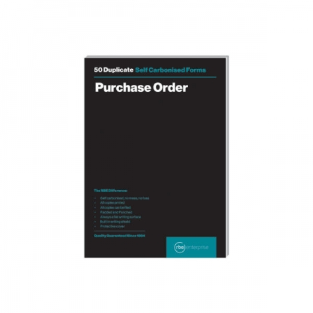 RBE A5 Purchase Order Duplicate Pad