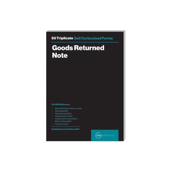 A5 Goods Return Note Triplicate Pads