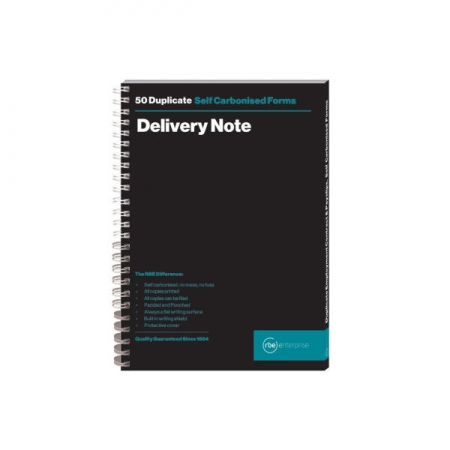 A5 Delivery Note Duplicate Spiral Bound Book
