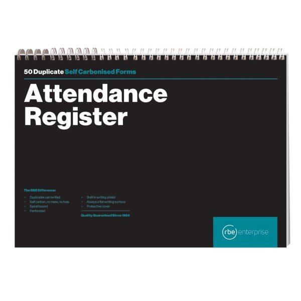 A4 Attendance Register Spiral Bound Book