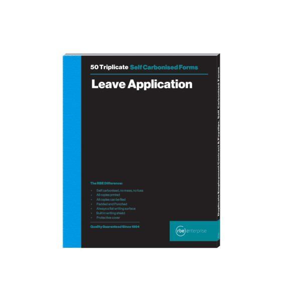 A5 Leave Application Duplicate Book