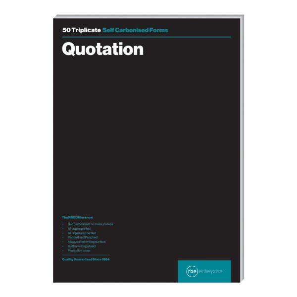 A4 Quotation Triplicate Pads