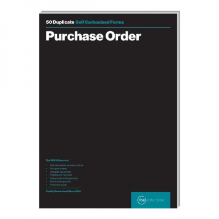 A4 Purchase Order Duplicate Pads