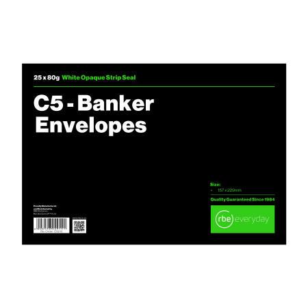 C5 Banker White Envelope