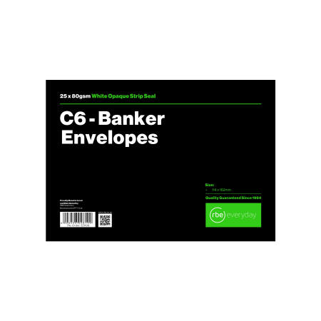 C6 Banker White Envelope