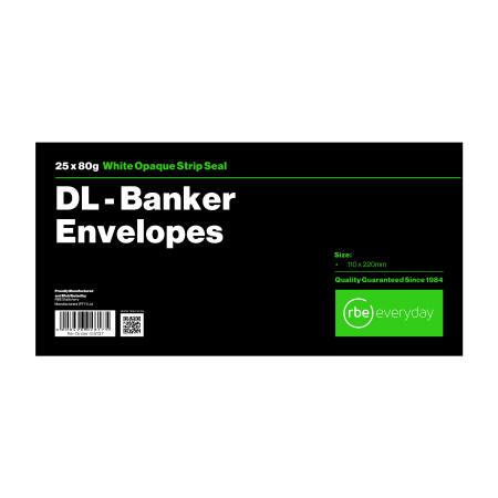 DL Banker White Envelope