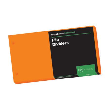 Bright Orange File Dividers