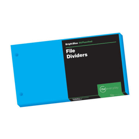 Bright Blue File Dividers