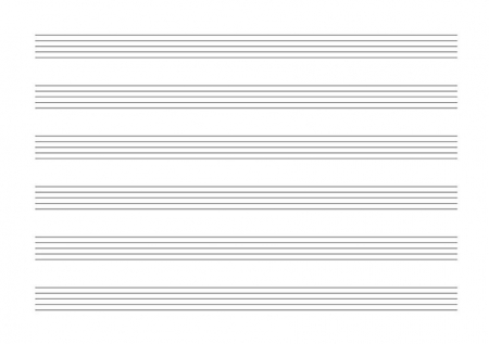 6 Stave Music Book Inside Form