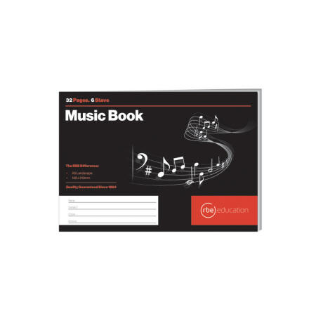 6 Stave Music Book