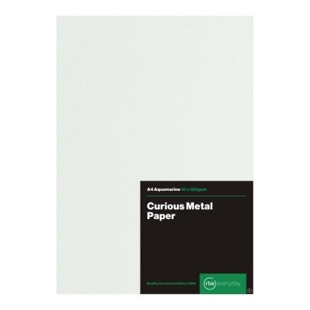 Curious Metal Aquamarine Paper