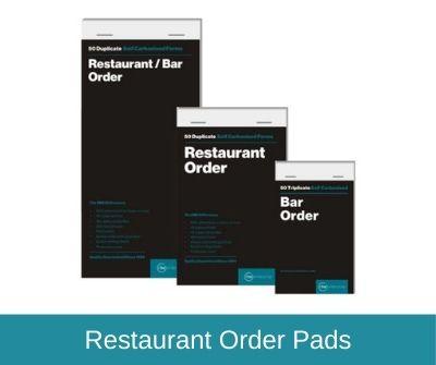 Restaurant & Bar Order Pads