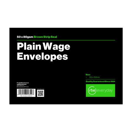 Plain Wage Envelopes