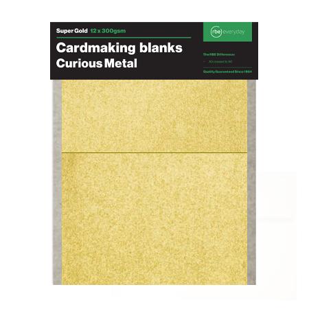 Super Gold Card Making Blanks