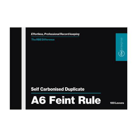 NCR A6 Feint Rule Pad Duplicate