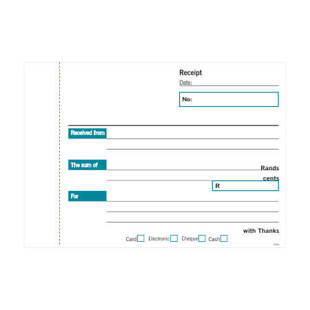 NCR A6 Receipt Pad Duplicate