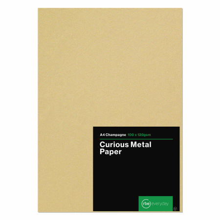 Curious Metal A4 Champagne Paper