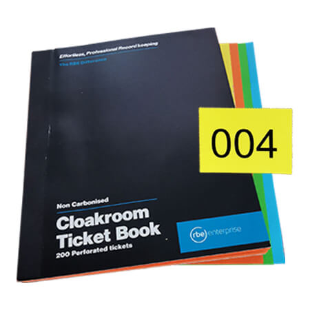 Cloakroom Tickets - Enterprise Range
