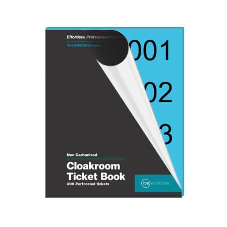 Blue Cloakroom Tickets - Enterprise Range