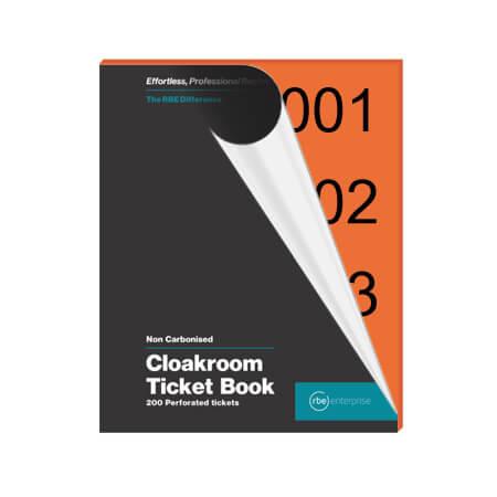 Orange Cloakroom Tickets - Enterprise Range