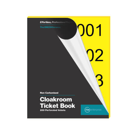 Yellow Cloakroom Tickets - Enterprise Range