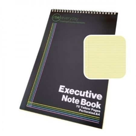 Executive or Legal Yellow Notebook