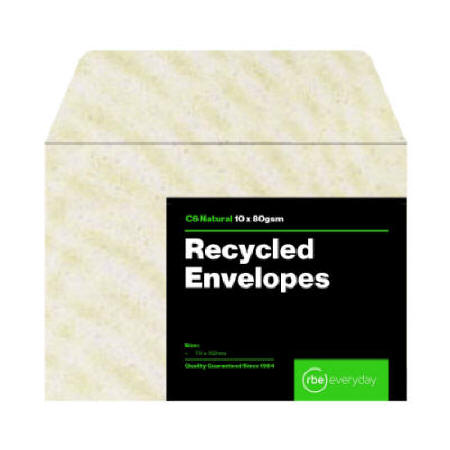 Recycled Natural C6 Envelope