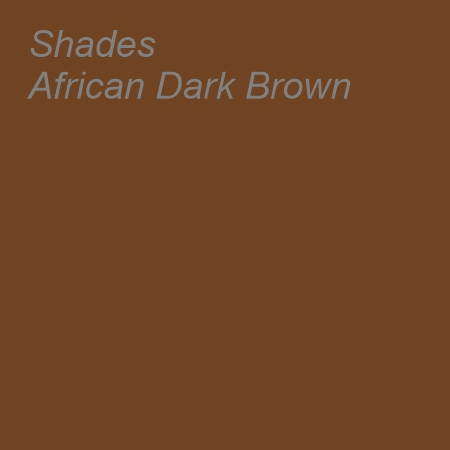 Shades African Dark Brown Colour Swatch