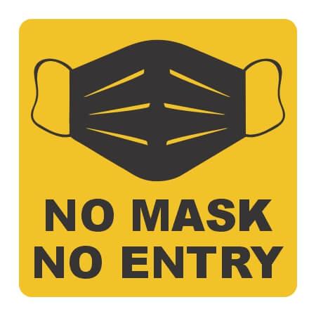 No Mask - No Entry Wall Sticker