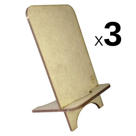 Laser Cut - Cell Phone Stand - 3 Pack