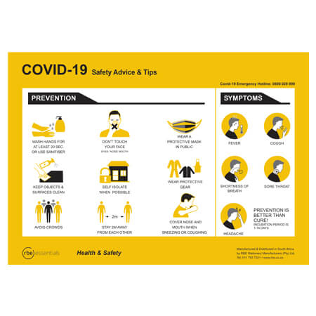 Covid-19 Safety Advise and Tips Poster