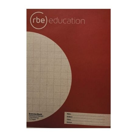 Quad & Margin 17mm 72 Page A4 Exercise Book