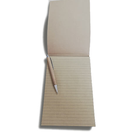 A4 Kraft Lined Notepad - Inside
