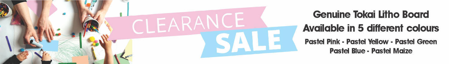 Clearance Sale Banner- Pastel Board