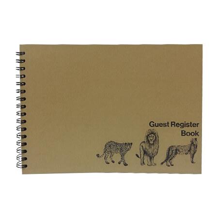 Guest Register Book - Wildlife