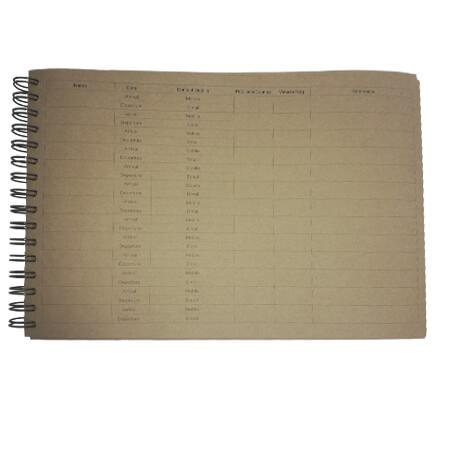 Guest Register Book - Inside Form