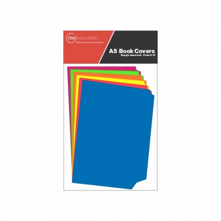 A5 Portrait Dayglo Book Covers