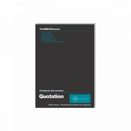 Duplicate A5 Quotation Pad