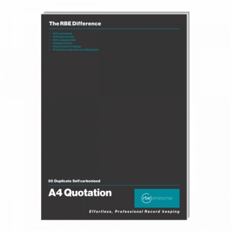 Duplicate A4 Quotation Pad
