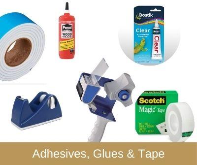 Adhesives, Glues and Tapes