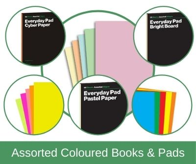 Assorted Coloured Pads