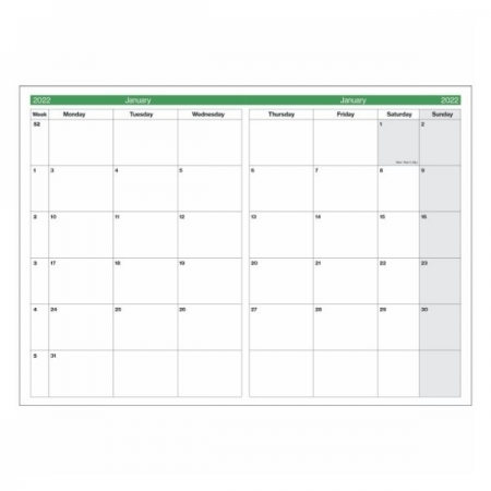 12 Month A4 Monthly Planner