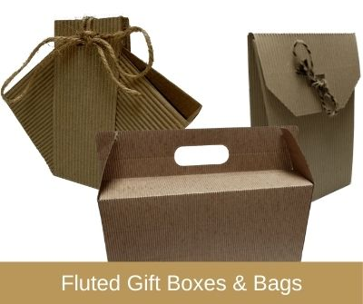 Fluted Gift Boxes & Bags