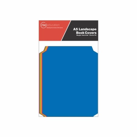 A5 Landscape Dayglo Assorted Colour Book Covers