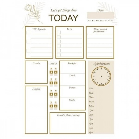 Let's Get Things Done Today Planner